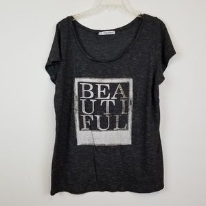 """Maurices """" Beautiful"""" plus size graphic tee"""